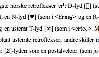 Word-tekst der fonetiske teikn ser ut som mykje rart.