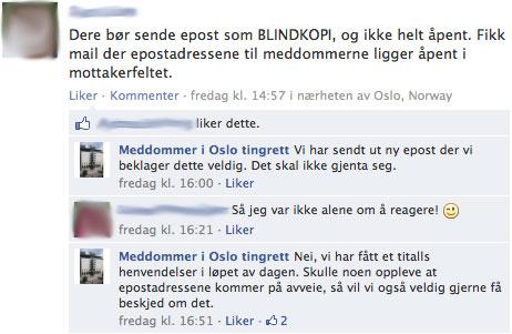 Facebook-skjermbilete