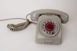 telefonapparat med dreibar nummerskive